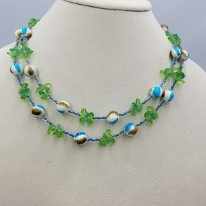 Jewelry - Two Strand Summertime Green Necklace